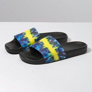 NWT Vans Tie Dye Men's Slides